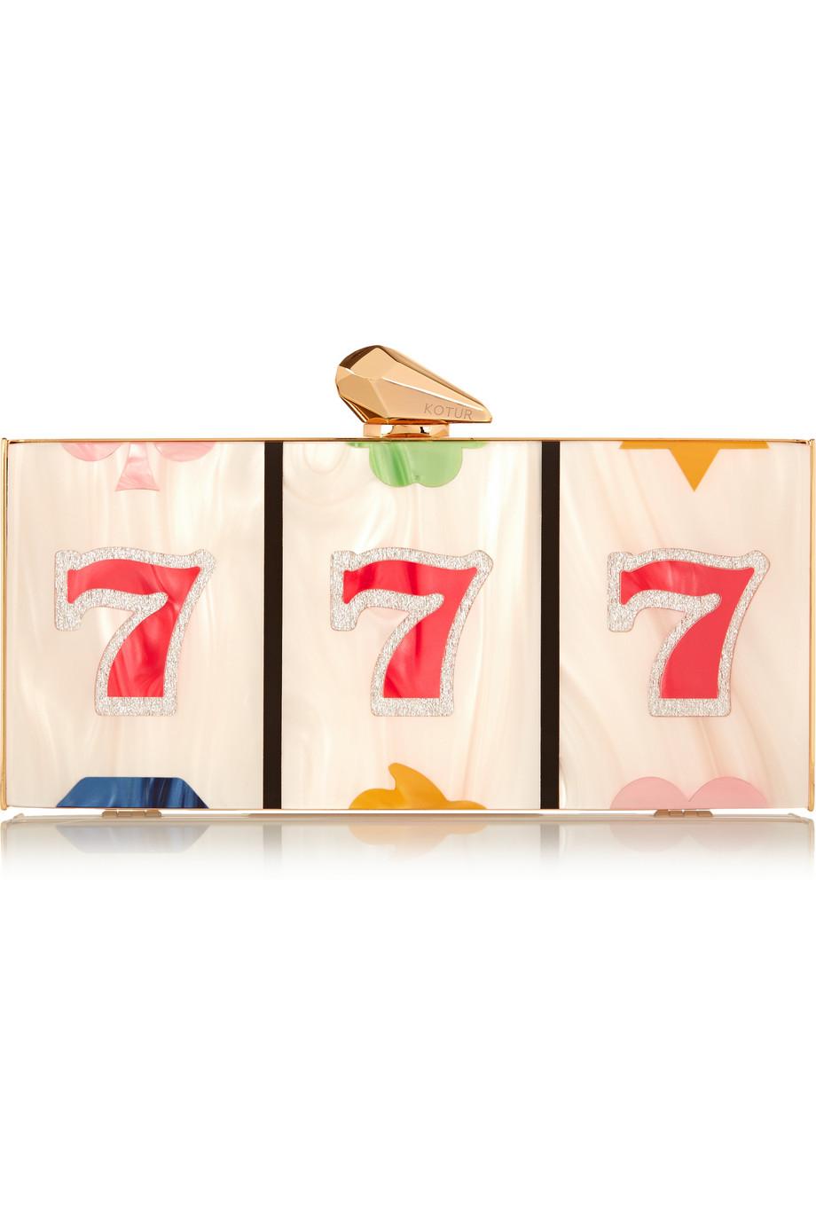 9. KOTUR Levin Jackpot Perspex box clutch €630.22
